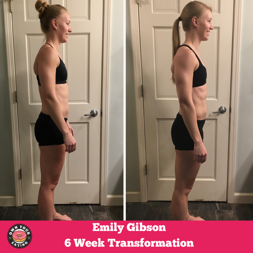Emily Gibson Flexible eating Transformation