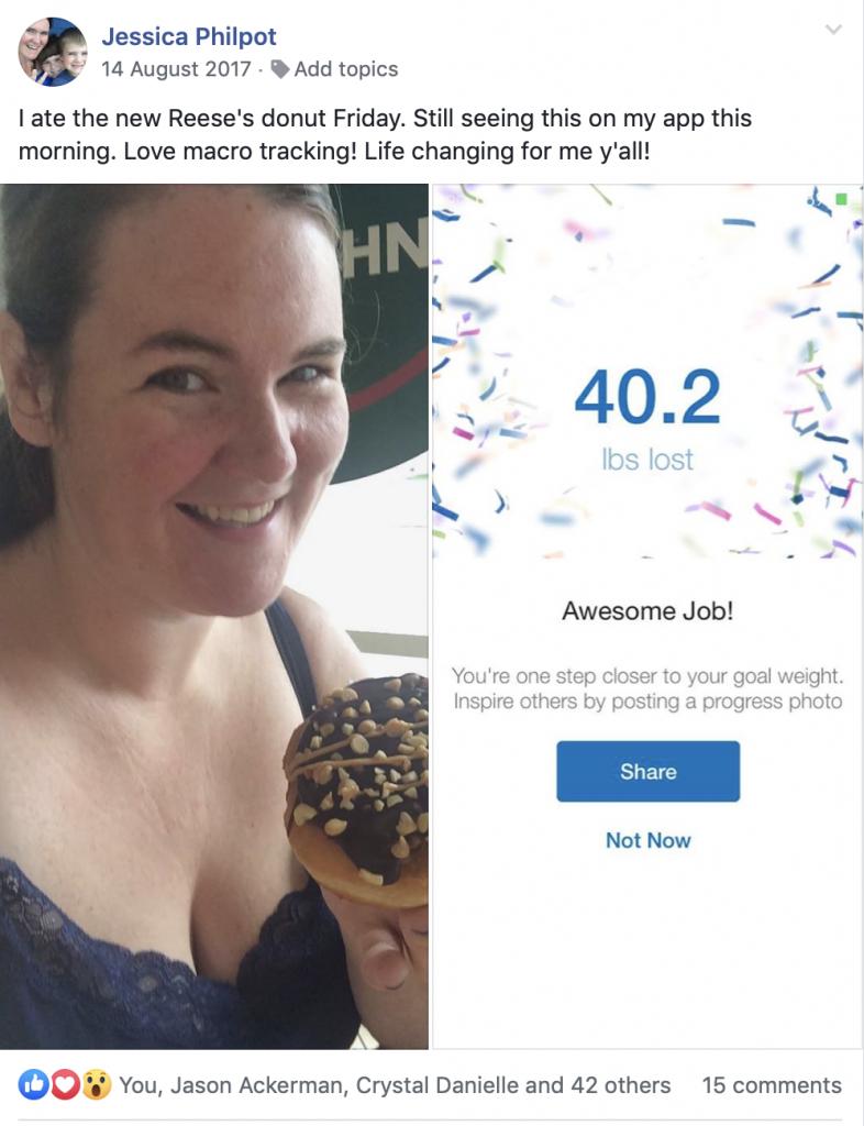 Jess Philpot 40 lbs. weight loss