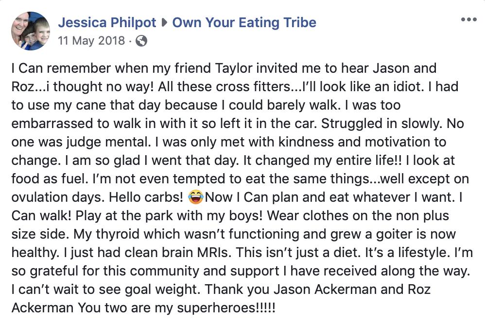 Jess philpot testimonial