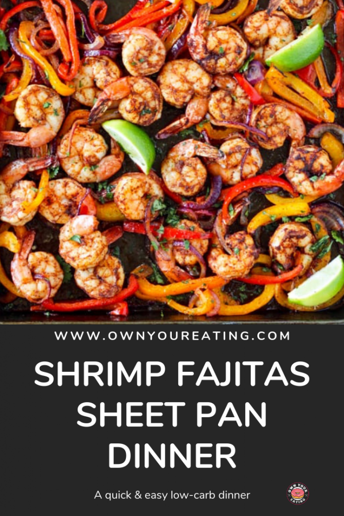 Shrimp Fajitas sheet pan