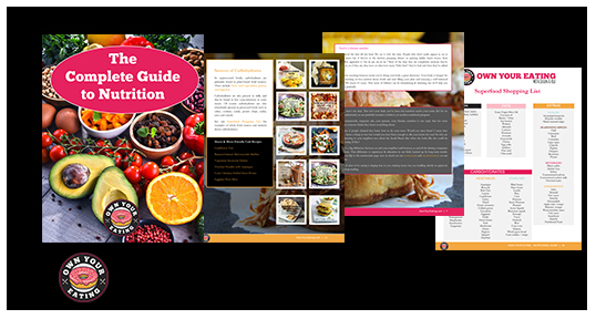 Complete Guide to nutrition mockup