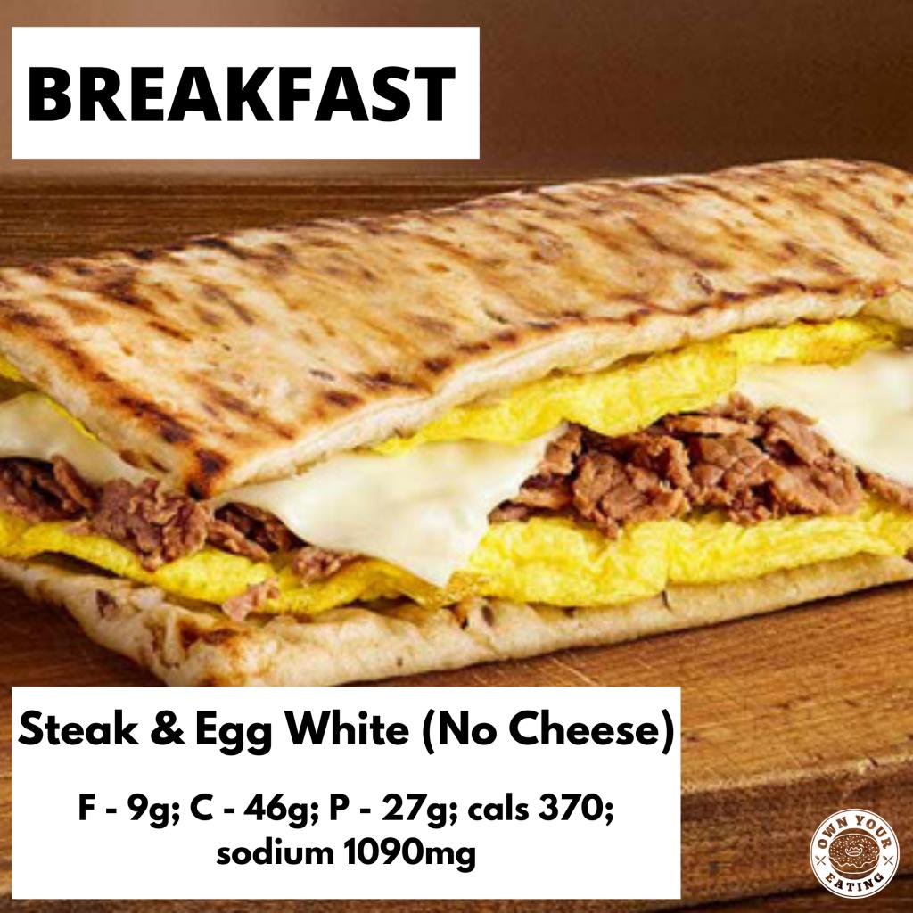 Steak & Egg white flatbread (no cheese)