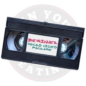 Beginner Macro Video Package
