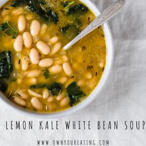 Lemon Kale & Bean Soup
