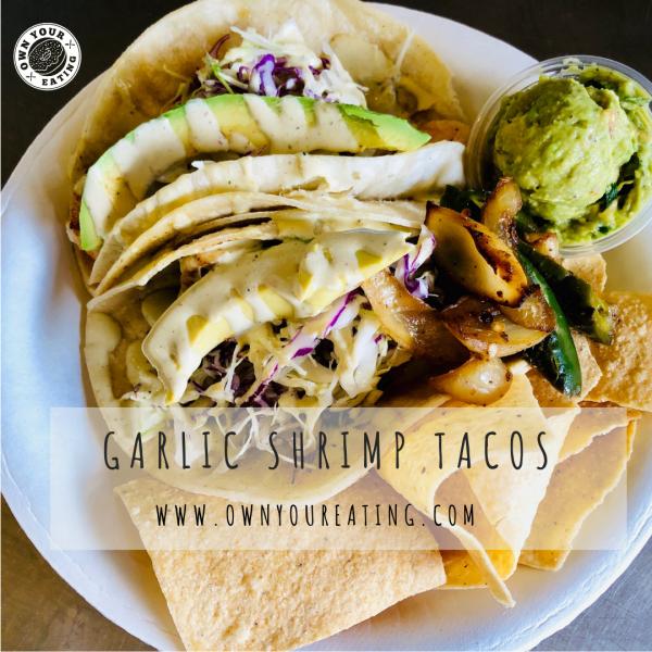 Garlic Shrimp Tacos with Avocado Crema [Recipe]