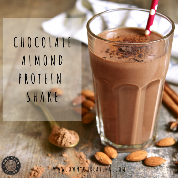 Chocolate Almond Butter Protein Shake [Recipe]