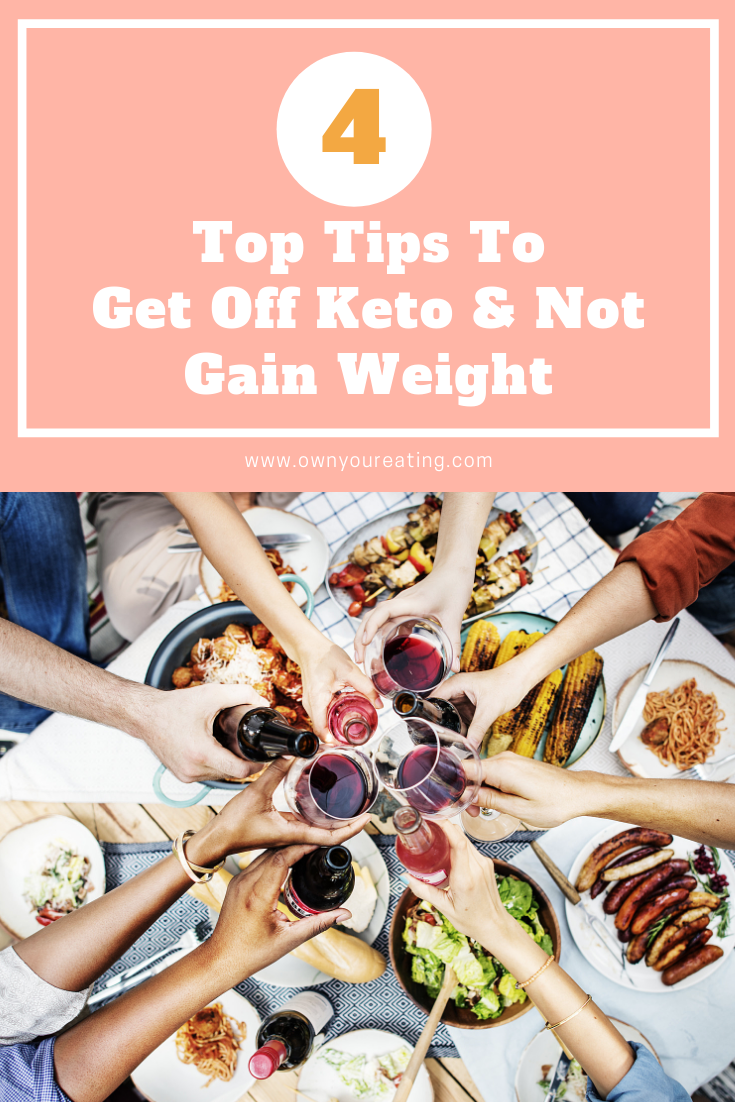 how to come off keto diet