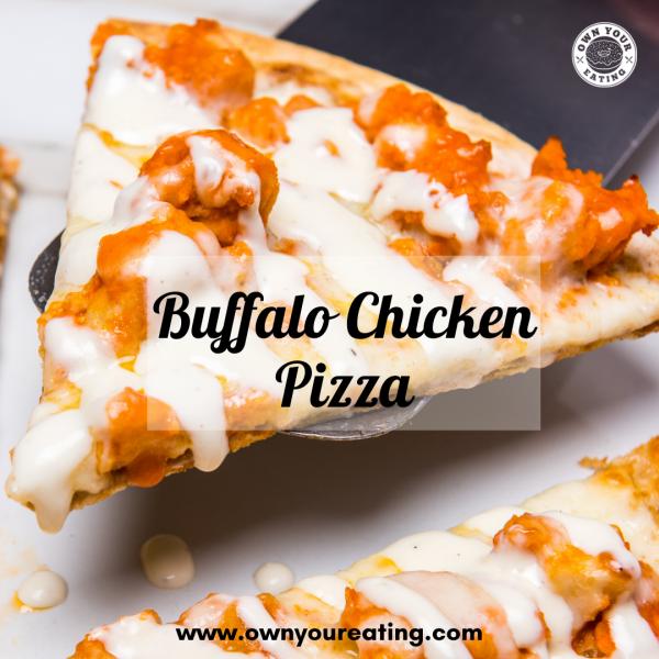 Low Calorie Buffalo Chicken Pizza [Recipe]