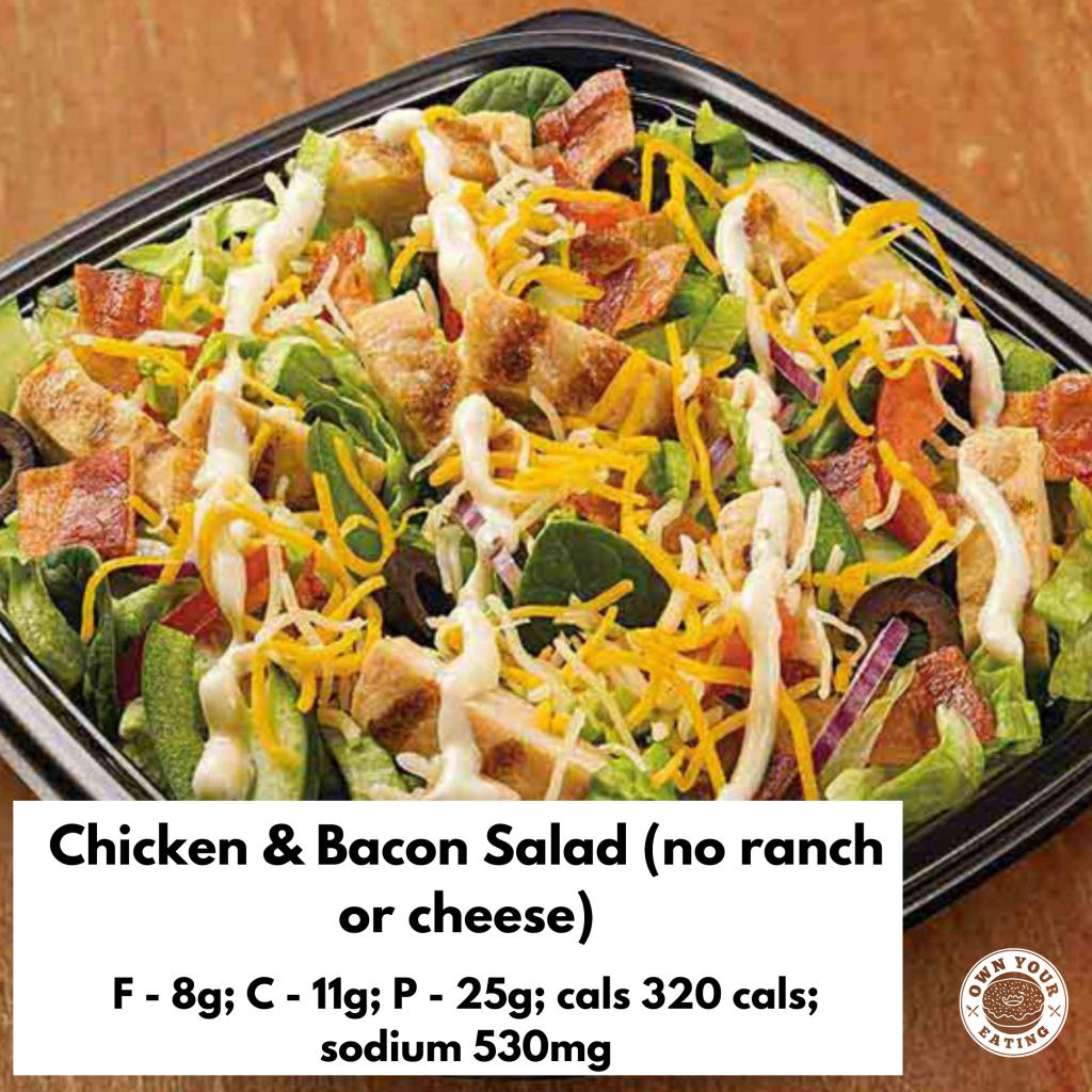 Chicken & bacon salad no ranch or cheese