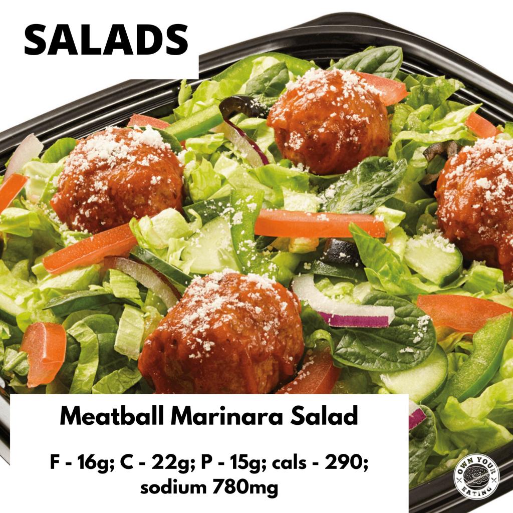 Meatball marinara salad