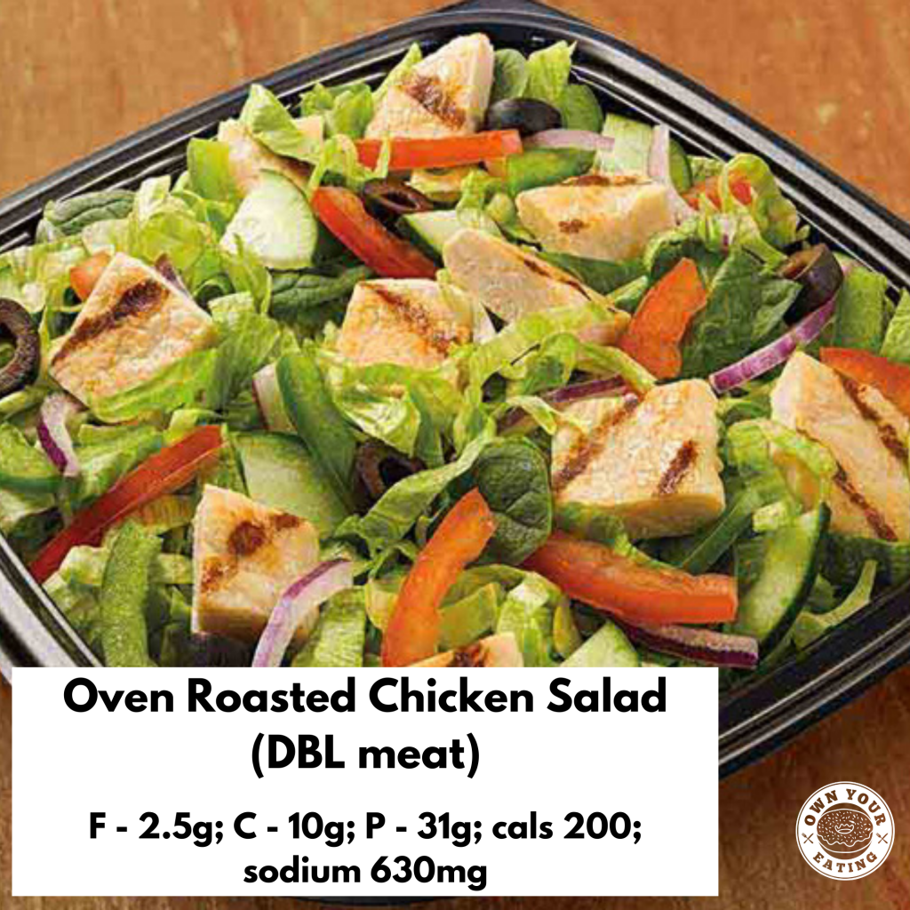 Oven roasted chicken salad subway